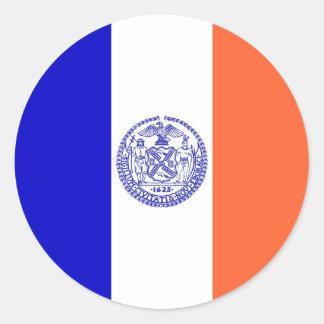 Autocollant avec le drapeau de New York City