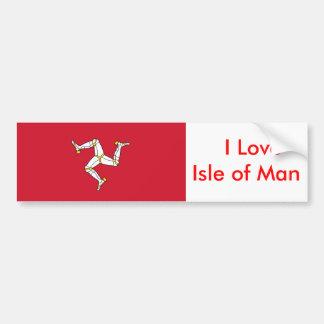 Autocollant avec le drapeau d'île de Man