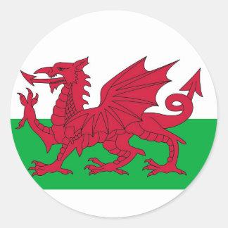 Autocollant avec le drapeau du Pays de Galles