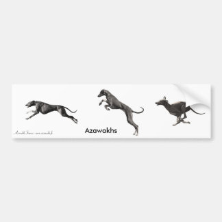 AUTOCOLLANT Azawakhs noirs
