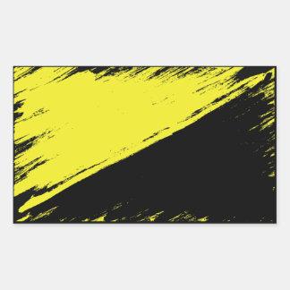 Autocollant balayé de drapeau