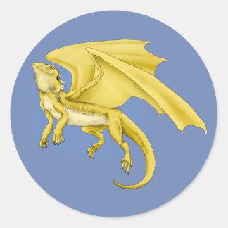 Autocollant barbu de dragon de dragon