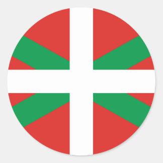 Autocollant Basque de drapeau