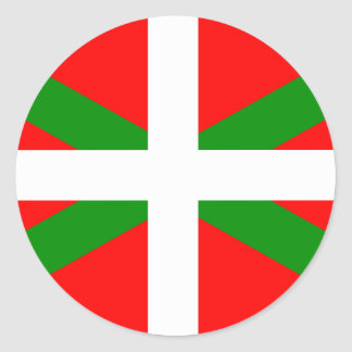 Autocollant Basque de drapeau d'Ikurrina