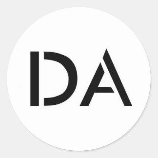 Autocollant blanc de logo du DA
