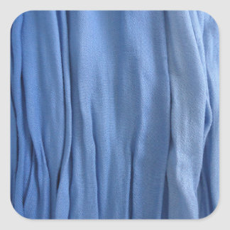 Autocollant bleu de carré de tissu