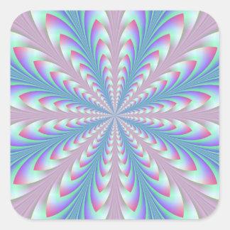 Autocollant bleu et rose de pointes de flèche