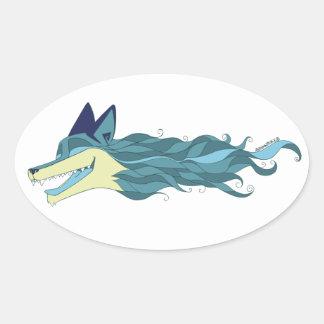 Autocollant bleu vivant de Fox d'une manière