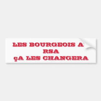 autocollant bourgeois au RSA