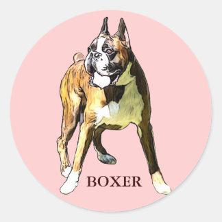 autocollant boxer