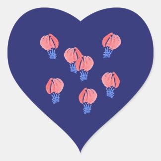 Autocollant brillant de coeur de ballons à air