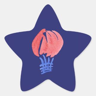 Autocollant brillant d'étoile de ballon à air