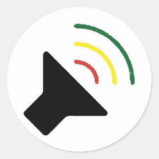 Autocollant bruyant de reggae