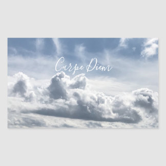 Autocollant Carpe Diem, belle photo des nuages