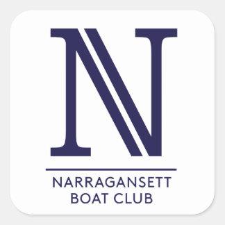 Autocollant carré brillant de club de bateau de