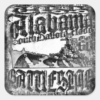 Autocollant carré d'autocollants de l'Alabama de