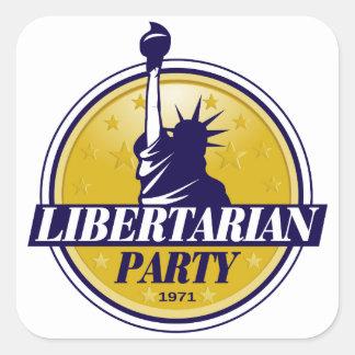 Autocollant carré de libertaire