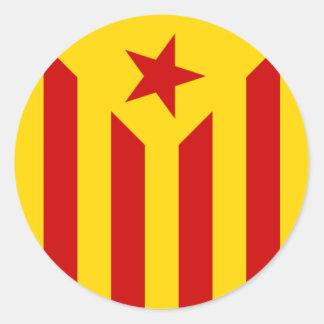 Autocollant catalan de drapeau