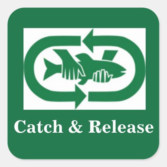 "Autocollant ""Catch & Release"""