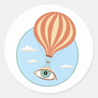 Autocollant chaud de ballon à air de globe