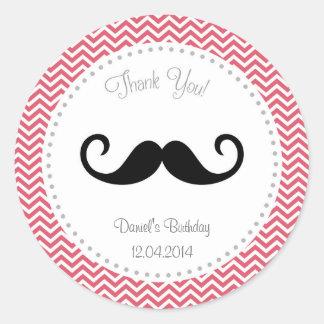 Autocollant Chevron d'anniversaire de moustache