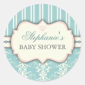 Autocollant chic de faveur de baby shower de