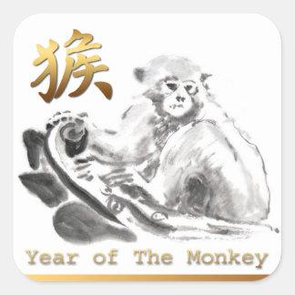 Autocollant chinois de symbole d'or de zodiaque