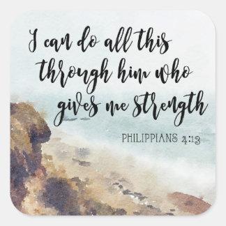 autocollant chrétien inspiré de citation de bible