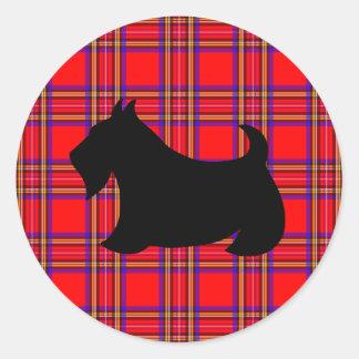 Autocollant classique de Terrier d'écossais de