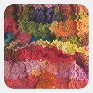 Autocollant coloré d'abrégé sur tissu
