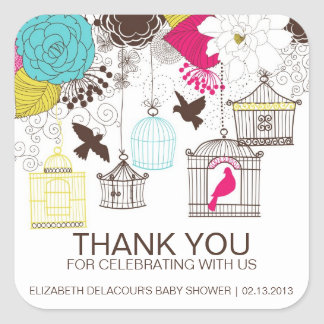 Autocollant coloré de Merci de baby shower de