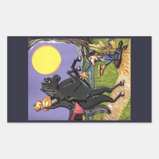 Autocollant creux somnolent d'Ichabod de cavalier
