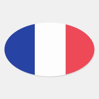 Autocollant d ovale d Européen-style de drapeau de