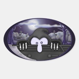 Autocollant d ovale de Kilroy de faucheuse