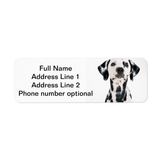 Autocollant dalmatien d'adresse