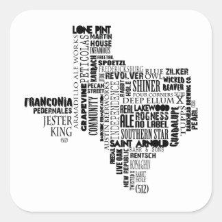 Autocollant d'amants de bière du Texas