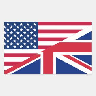 Autocollant d'Américain et de rectangle de drapeau