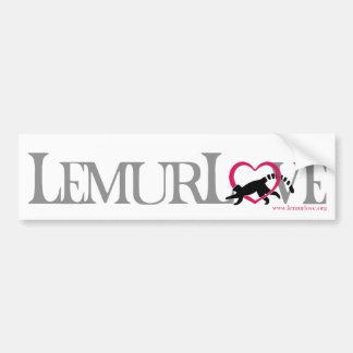 Autocollant d'amour de lémur