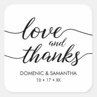 Autocollant d'amour et de mercis • manuscrit