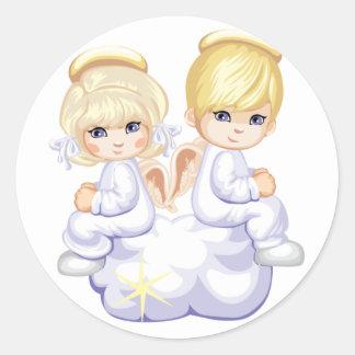 Autocollant d'anges d'amour de bébé
