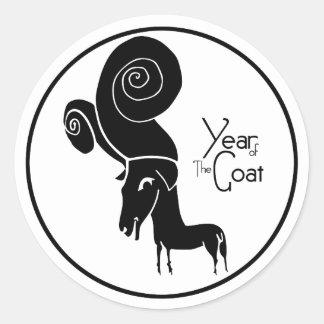 Autocollant d'année de chèvre de moutons de RAM