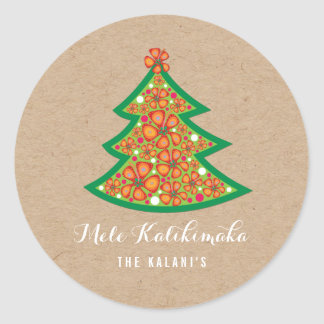 Autocollant d'arbre de Noël de ketmie de Mele