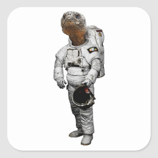 Autocollant d'astronaute de Schildkröte