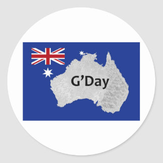 Autocollant d'Australien de logo de G'Day