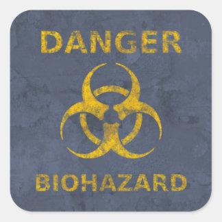 Autocollant d'avertissement affligé de Biohazard