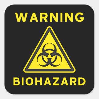 Autocollant d'avertissement de Biohazard