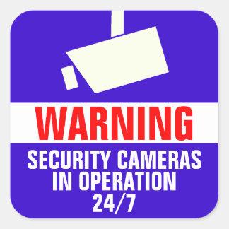 Autocollant d'avertissement de caméra de sécurité