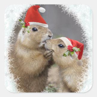 Autocollant de baiser de Noël