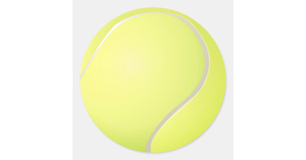 Autocollant de balle de tennis   Zazzle