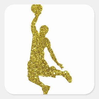 Autocollant de basket-ball d'or